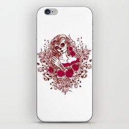 Sexy Woman zombie WITH Flower - Razzmatazz iPhone Skin