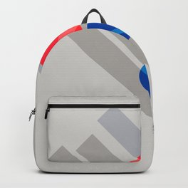 Abstract Suprematism Equilibrium Art Red Blue Yellow Backpack