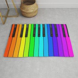 Rainbow Piano Keyboard  Rug