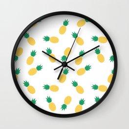 PINEAPPLE ANANAS FRUIT FOOD PATTERN Wall Clock