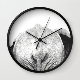 Black and white elephant animal jungle Wall Clock