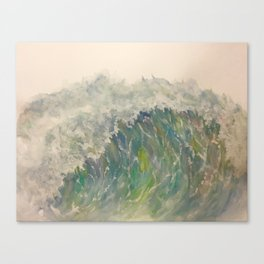 Watercolor Wave Canvas Print