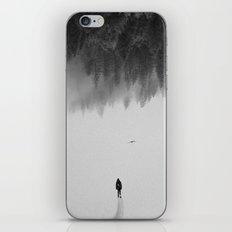 Silent Walk - B&W version iPhone & iPod Skin