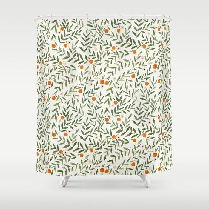 Oranges Foliage Duschvorhang