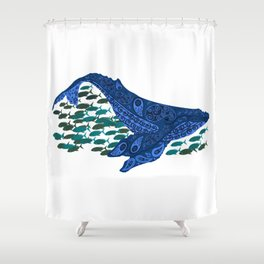 right whale Shower Curtain