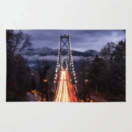 Lions Gate Bridge Rug