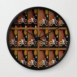 Bicycle Brown Derby Wall Clock
