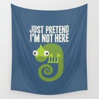 anxiety Wall Tapestries featuring Most Likely to Recede by David Olenick