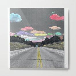 Road Trip Shower Curtain Metal Print