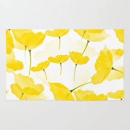 Light Yellow Poppies Spring Summer Mood #decor #society6 #buyart Rug