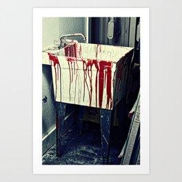 Blood Sink Art Print