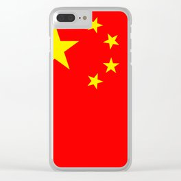 Chinese Flag Sticker & More Clear iPhone Case
