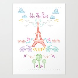 With love from Paris Art Print