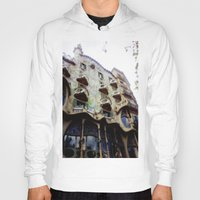barcelona Hoodies featuring Barcelona by Bryony Ogilvie