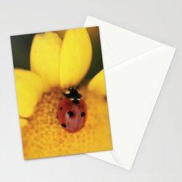 Ladybug on yellow flower - macro still life - fine art photo for interior design Stationery Cards