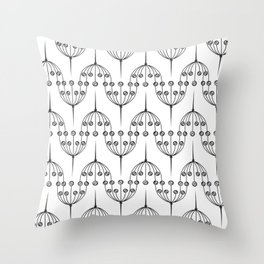 Abstract geometric pattern with floral elements Throw Pillow