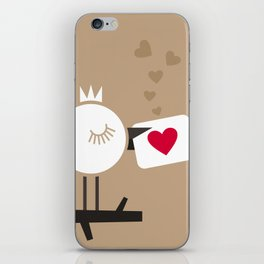 Enamoured bird iPhone Skin
