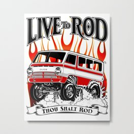 1969 GASSER VAN - RED Metal Print