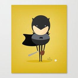 Bat man: My baseball hero! Canvas Print