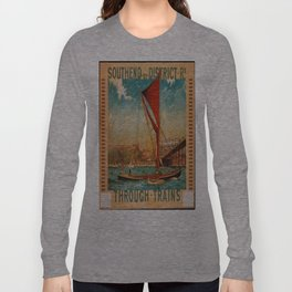 Vintage poster - Southend Long Sleeve T-shirt