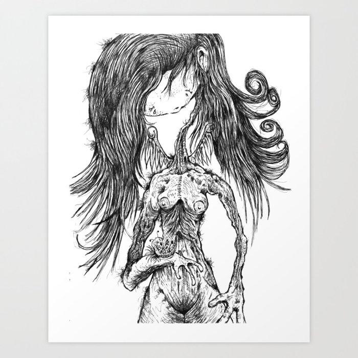 ..Still can feel Art Print