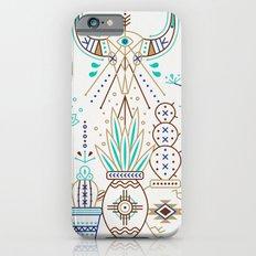 Santa Fe Garden – Turquoise & Brown Slim Case iPhone 6s