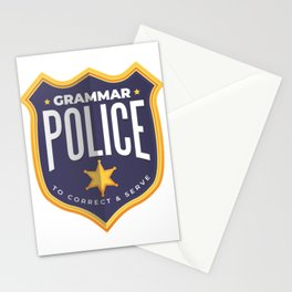 Grammar Police Stationery Cards