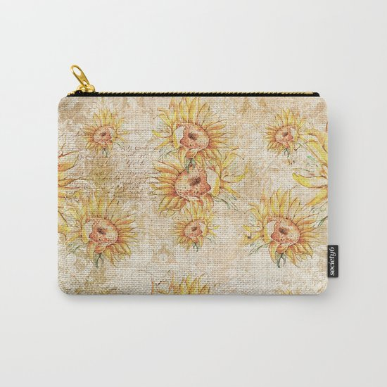 Vintage Sunflowers #5 Carry-All Pouch