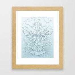 M.A.D. (blue) Framed Art Print