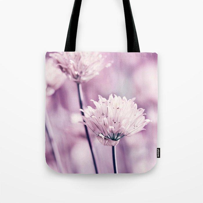 Allium pink macro 257 Tote Bag