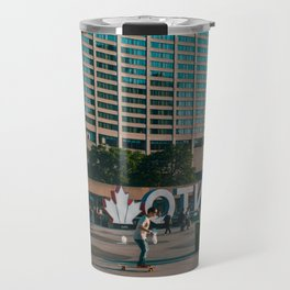 Nathan Phillips square late evening Rollin on Travel Mug