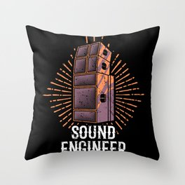 VINTAGE Sound Guy Gift Sound Engineer Sound Crew Throw Pillow