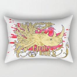 Rhino morph Rectangular Pillow