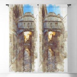 Venezia Ponte di Sospiri  - SKETCH Blackout Curtain
