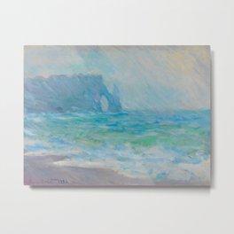 Claude Monet  Etretat, The Cliff Oil Painting Metal Print