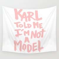 karl Wall Tapestries featuring Karl told me... by Ludovic Jacqz