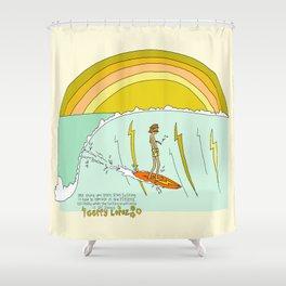 surf legend gerry lopez lightning bolt retro surf art by surfy birdy Shower Curtain