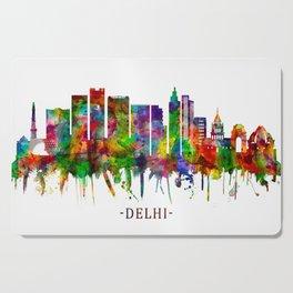 Delhi India Skyline Cutting Board