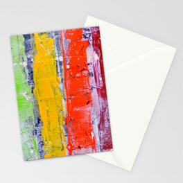 Same, LGBT rainbow abstract, NYC artist Stationery Cards