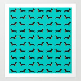 Black and Tan Dachshund Art Print