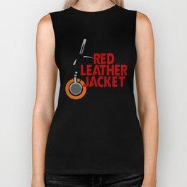 Red Leather Jacket Biker Tank