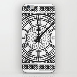 Big Ben, Clock Face, Intricate Vintage Timepiece Watch iPhone Skin