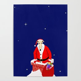 Christmas Whippet Poster