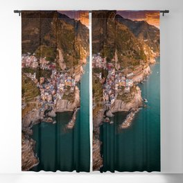 Aerial above Cinque Terre, Italy Blackout Curtain