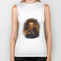 christopher walken Biker Tanks featuring Christopher Walken - replaceface by replaceface
