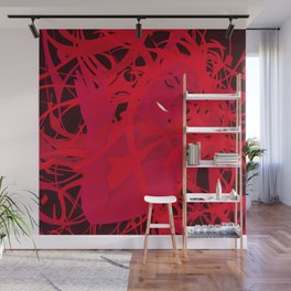 01 - RED GIRL Wall Mural