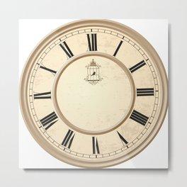 Classy Vintage Birdcage Decorative Clock Metal Print