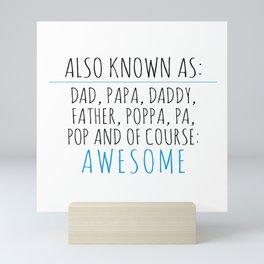 Awesome Dad Mini Art Print