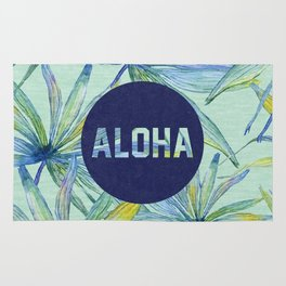 Aloha - blue version Rug