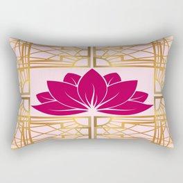 Art Deco Retro Lotus (cerise) Rectangular Pillow